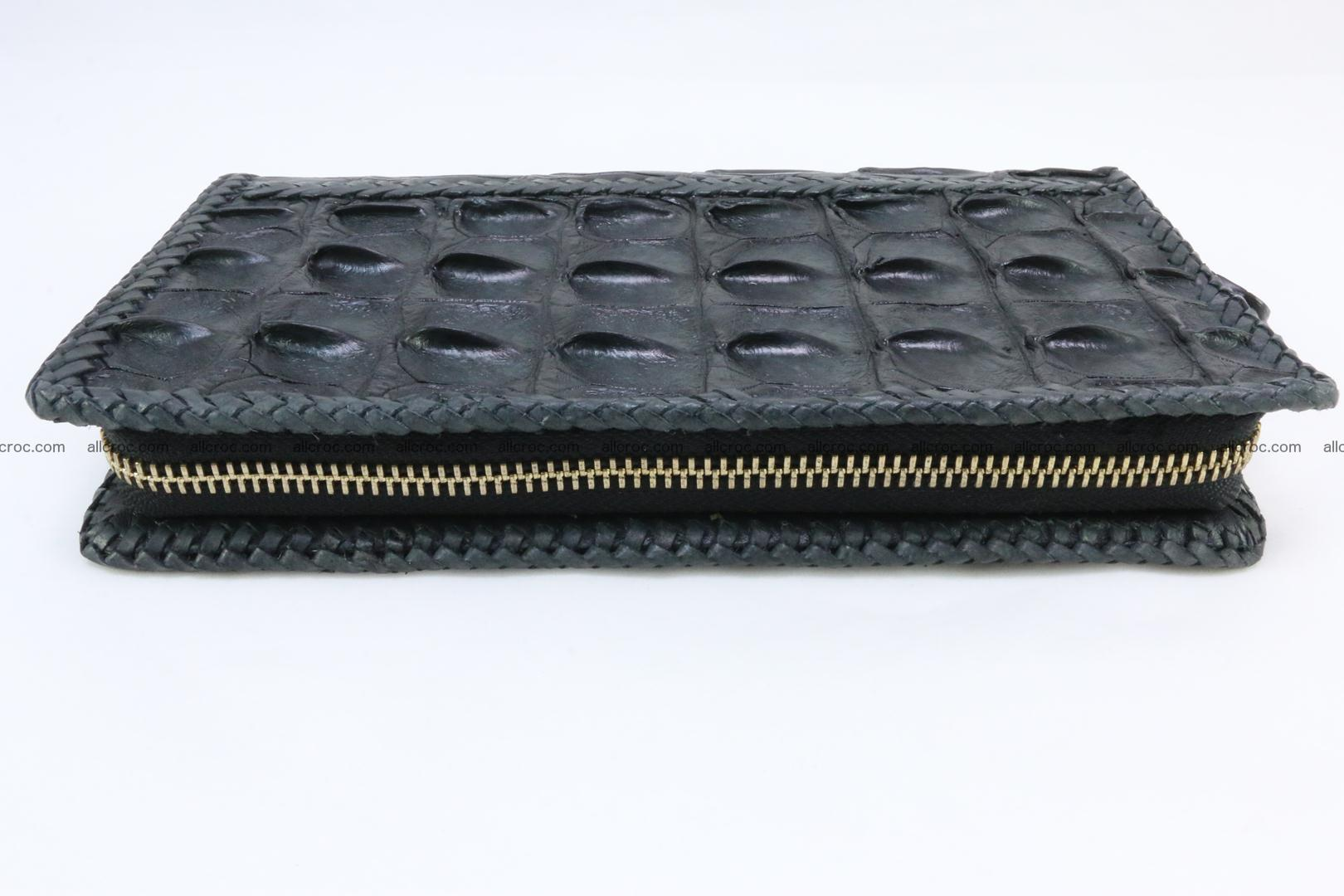 Genuine crocodile hornback wallet with zip 110 Foto 7