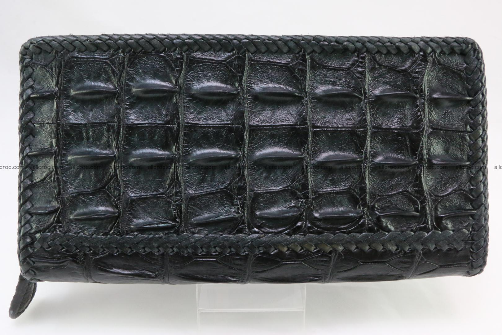 Genuine crocodile hornback wallet with zip 110 Foto 1