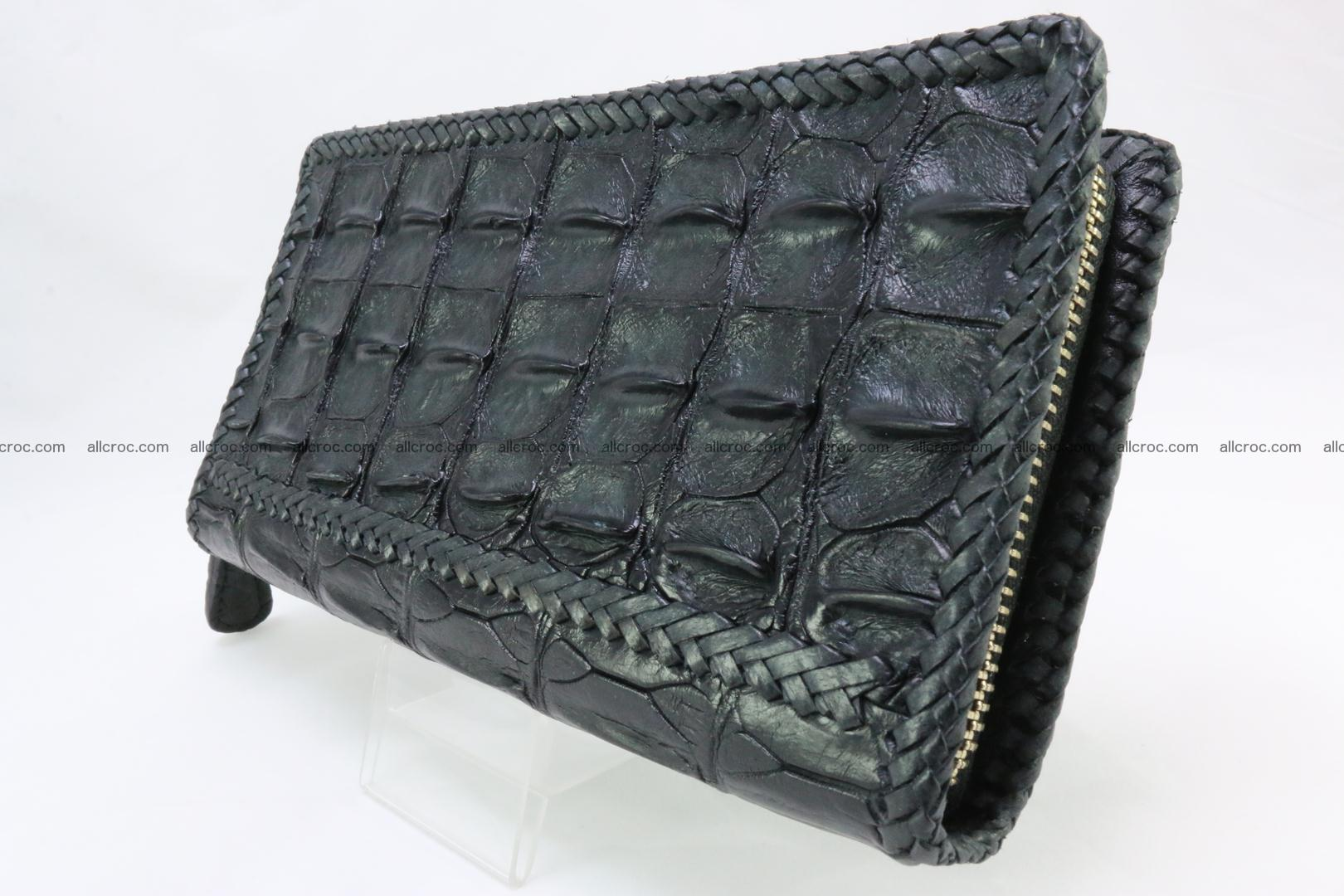 Genuine crocodile hornback wallet with zip 110 Foto 3