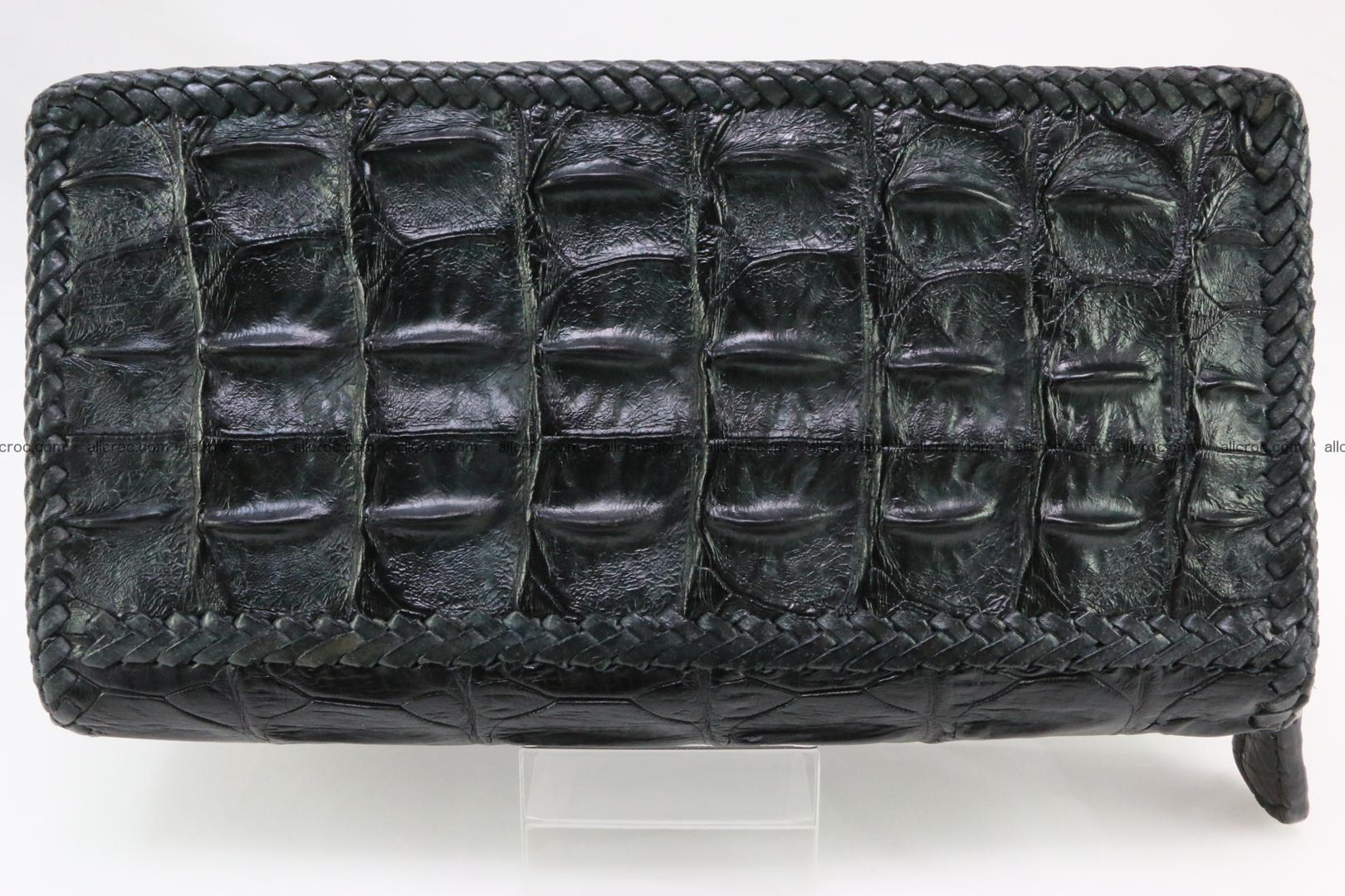 Genuine crocodile hornback wallet with zip 110 Foto 2