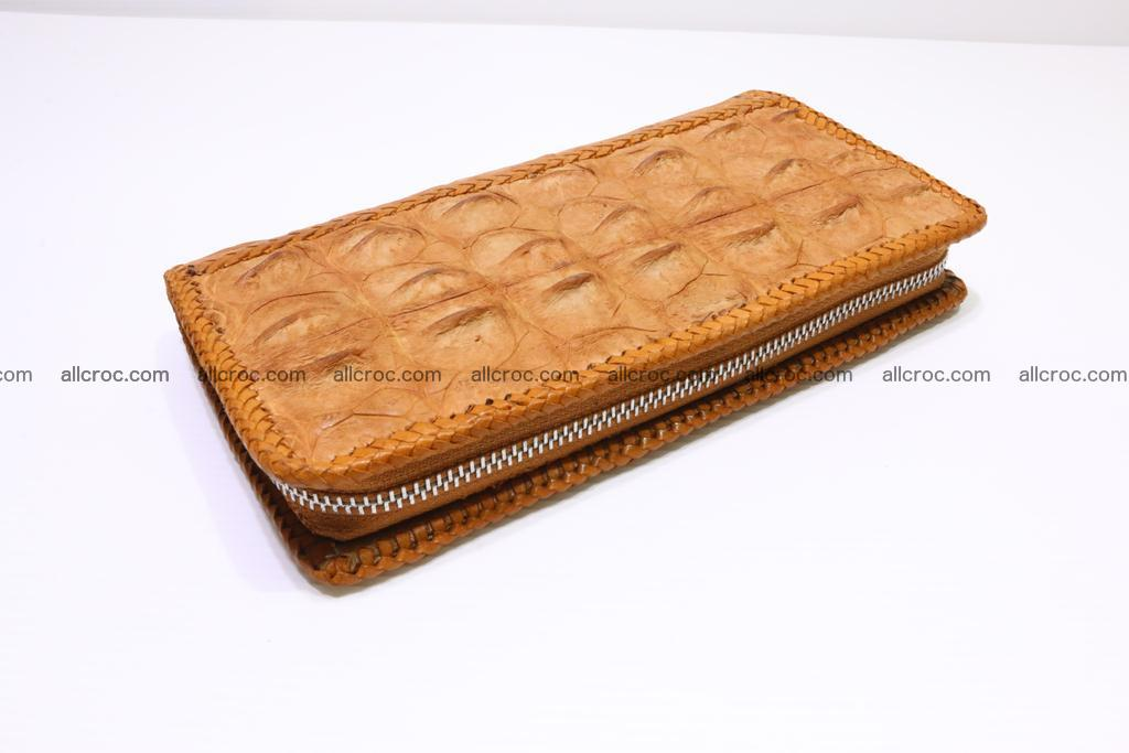 Genuine crocodile hornback wallet with zip 102 Foto 9