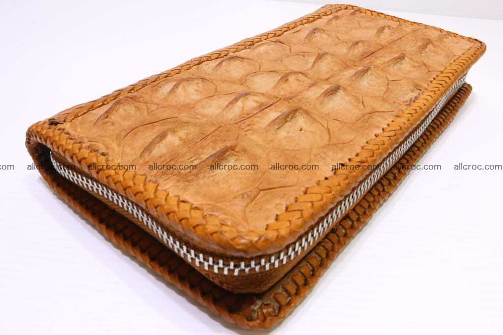 Genuine crocodile hornback wallet with zip 102 Foto 0