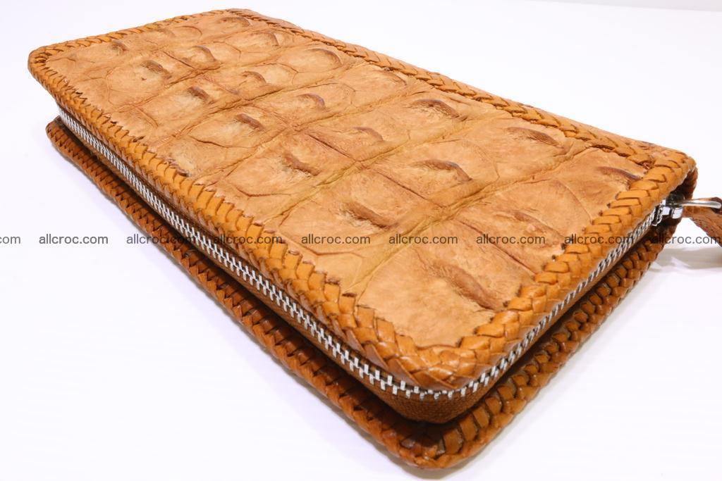 Genuine crocodile hornback wallet with zip 102 Foto 8