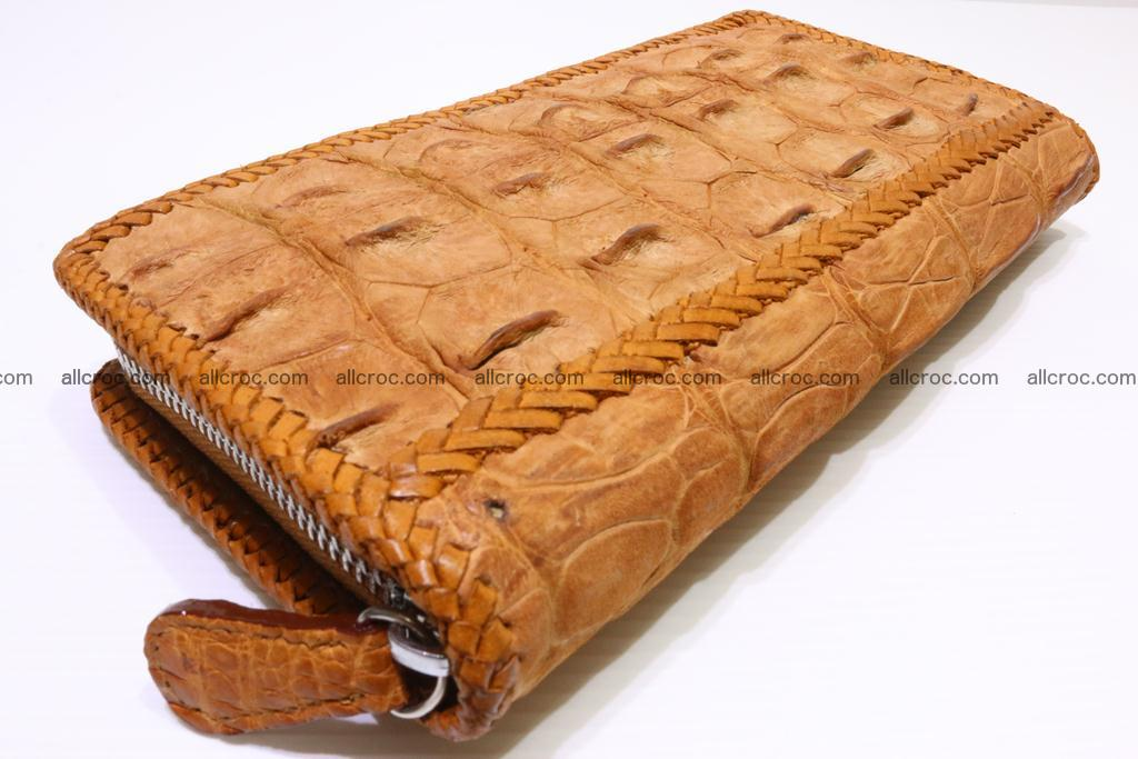Genuine crocodile hornback wallet with zip 102 Foto 6