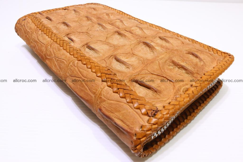 Genuine crocodile hornback wallet with zip 102 Foto 7