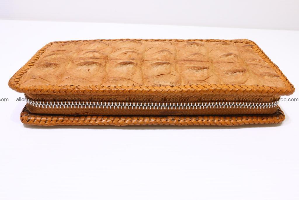 Genuine crocodile hornback wallet with zip 102 Foto 10