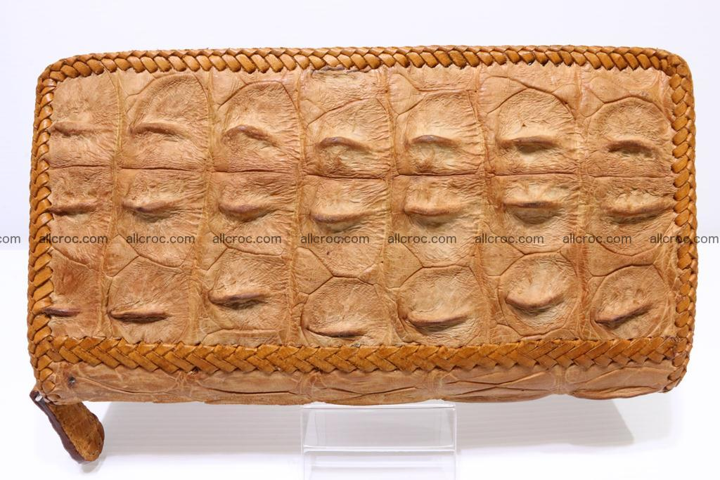 Genuine crocodile hornback wallet with zip 102 Foto 2