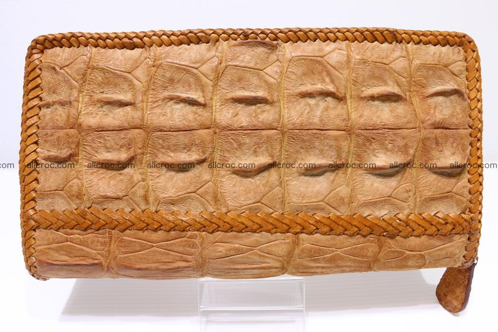 Genuine crocodile hornback wallet with zip 102 Foto 3