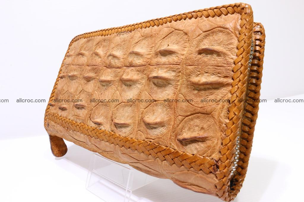 Genuine crocodile hornback wallet with zip 102 Foto 1