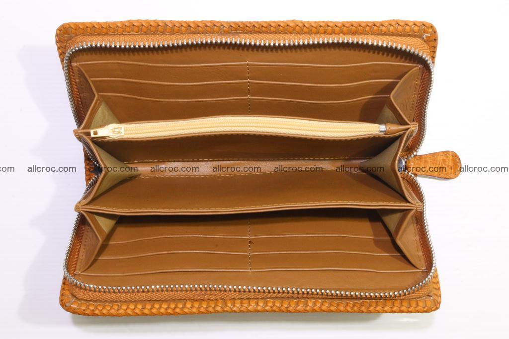 Genuine crocodile hornback wallet with zip 102 Foto 4