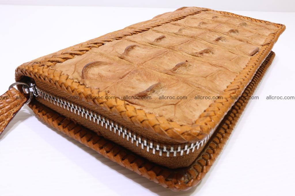 Genuine crocodile hornback wallet with zip 102 Foto 5