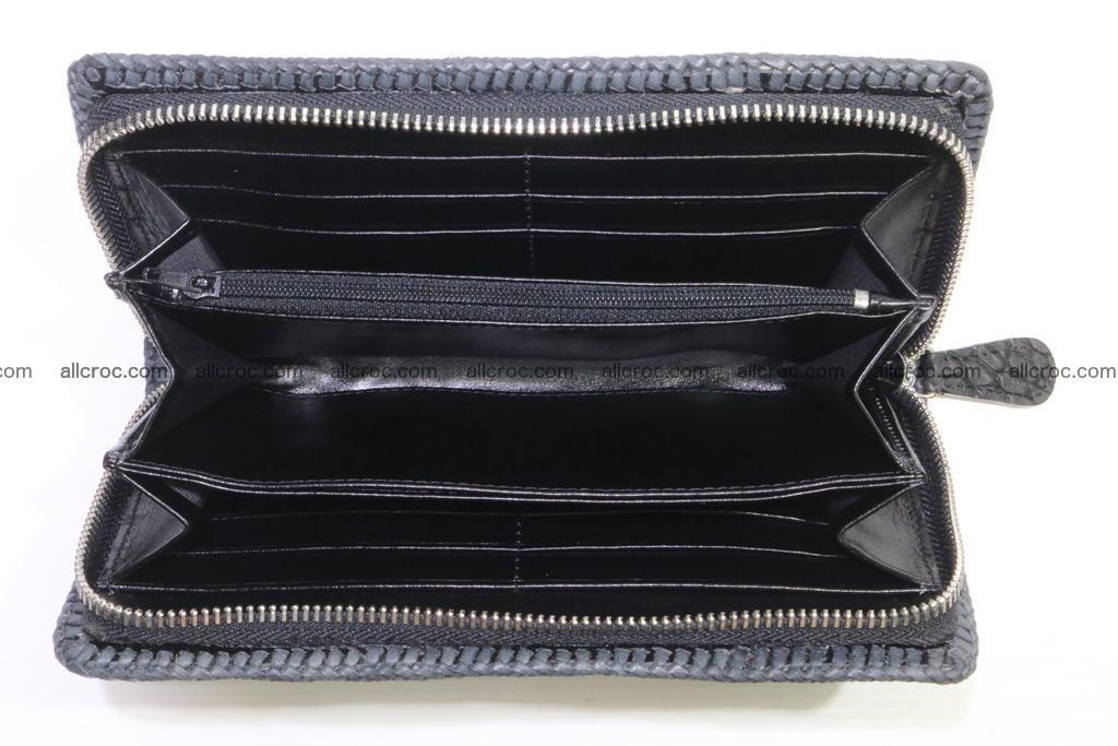 Genuine crocodile hornback wallet with zip 103 Foto 14