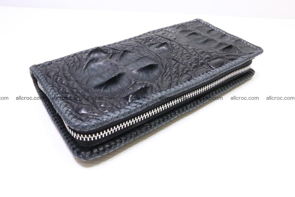 Genuine crocodile hornback wallet with zip 103 Foto 10