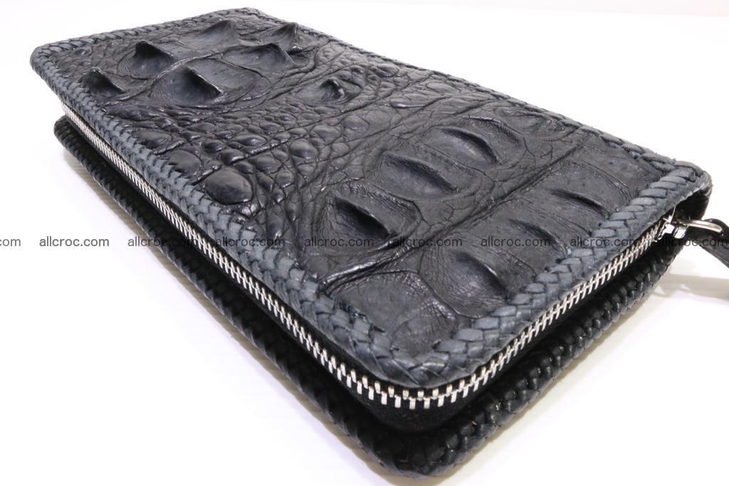 Genuine crocodile hornback wallet with zip 103 Foto 12