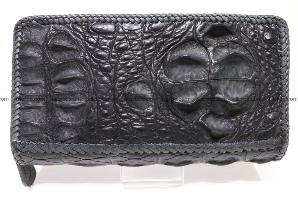Genuine crocodile hornback wallet with zip 103 Foto 2