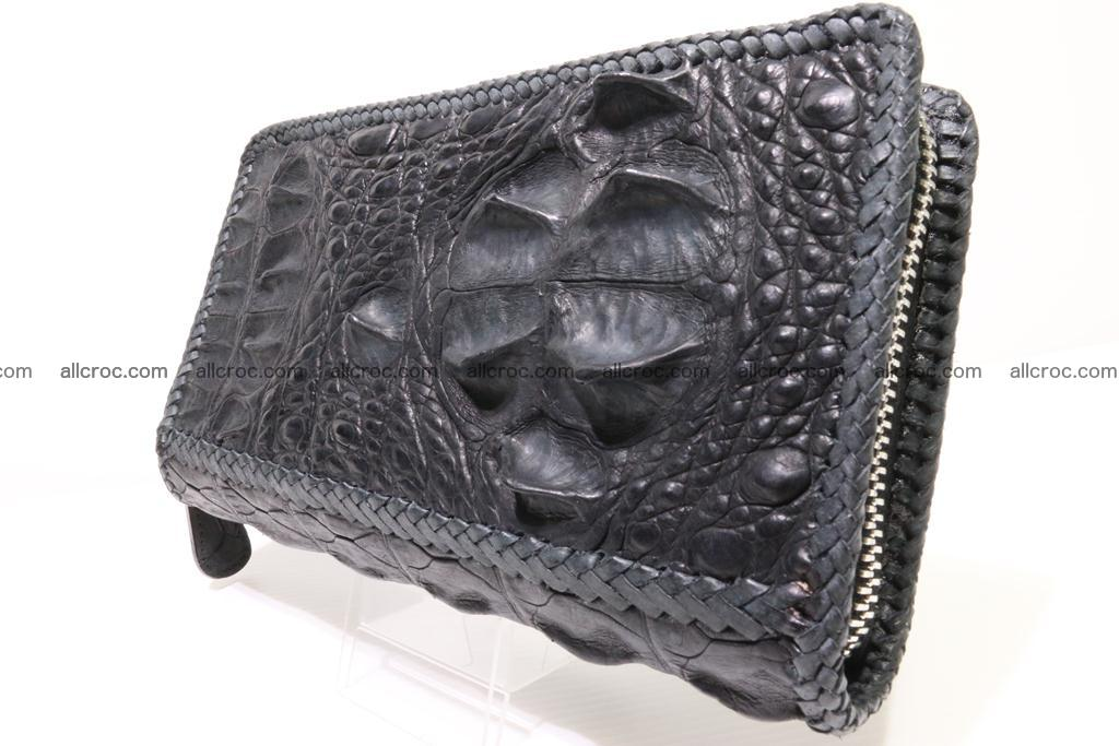 Genuine crocodile hornback wallet with zip 103 Foto 1