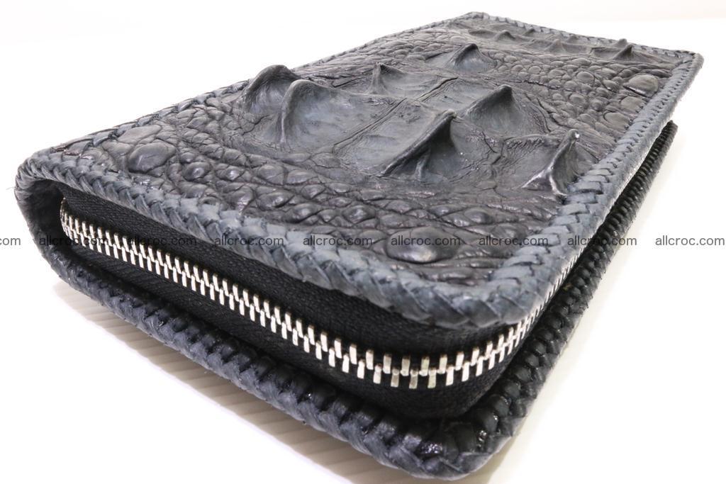 Genuine crocodile hornback wallet with zip 103 Foto 9