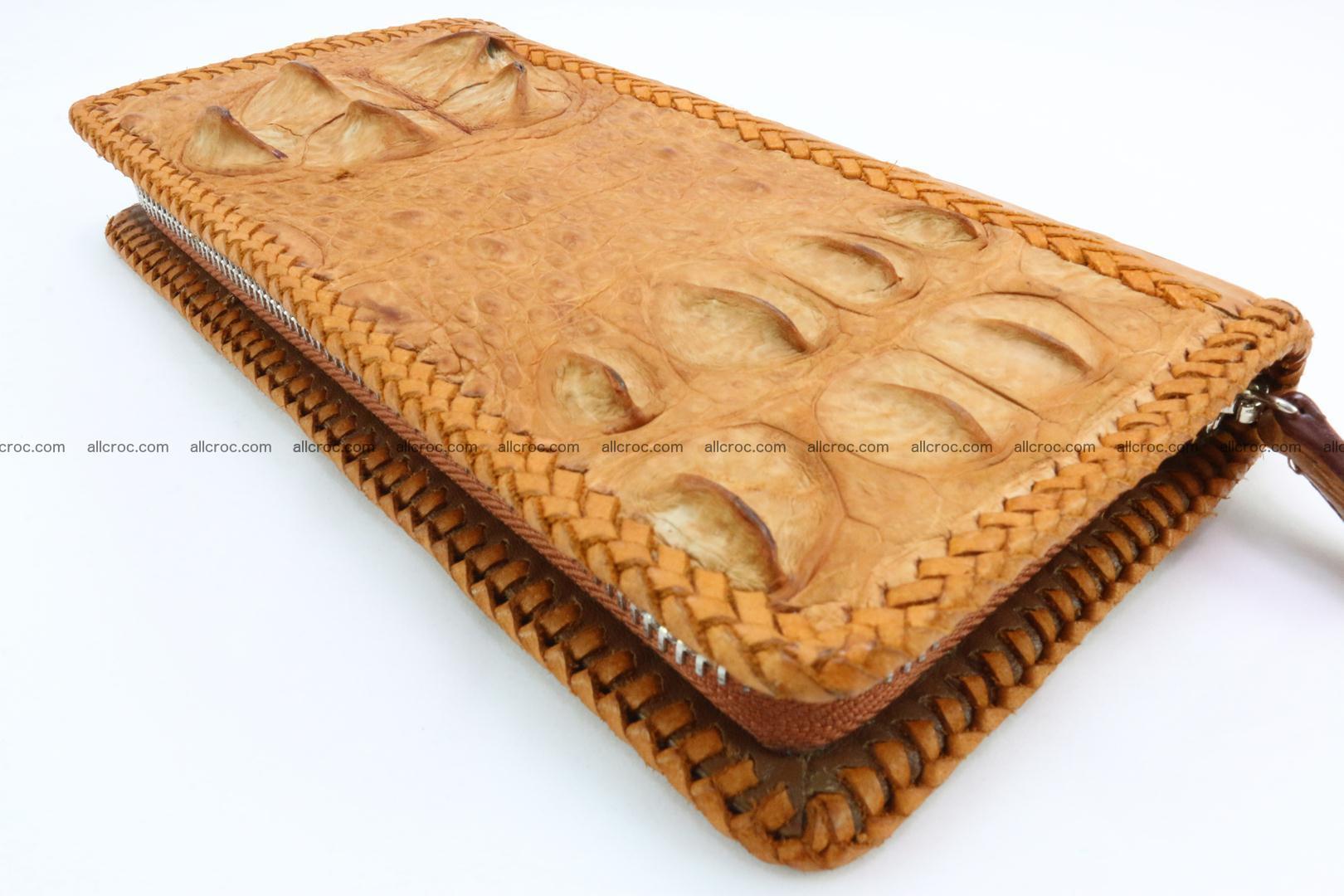 Genuine crocodile hornback wallet with zip 106 Foto 12