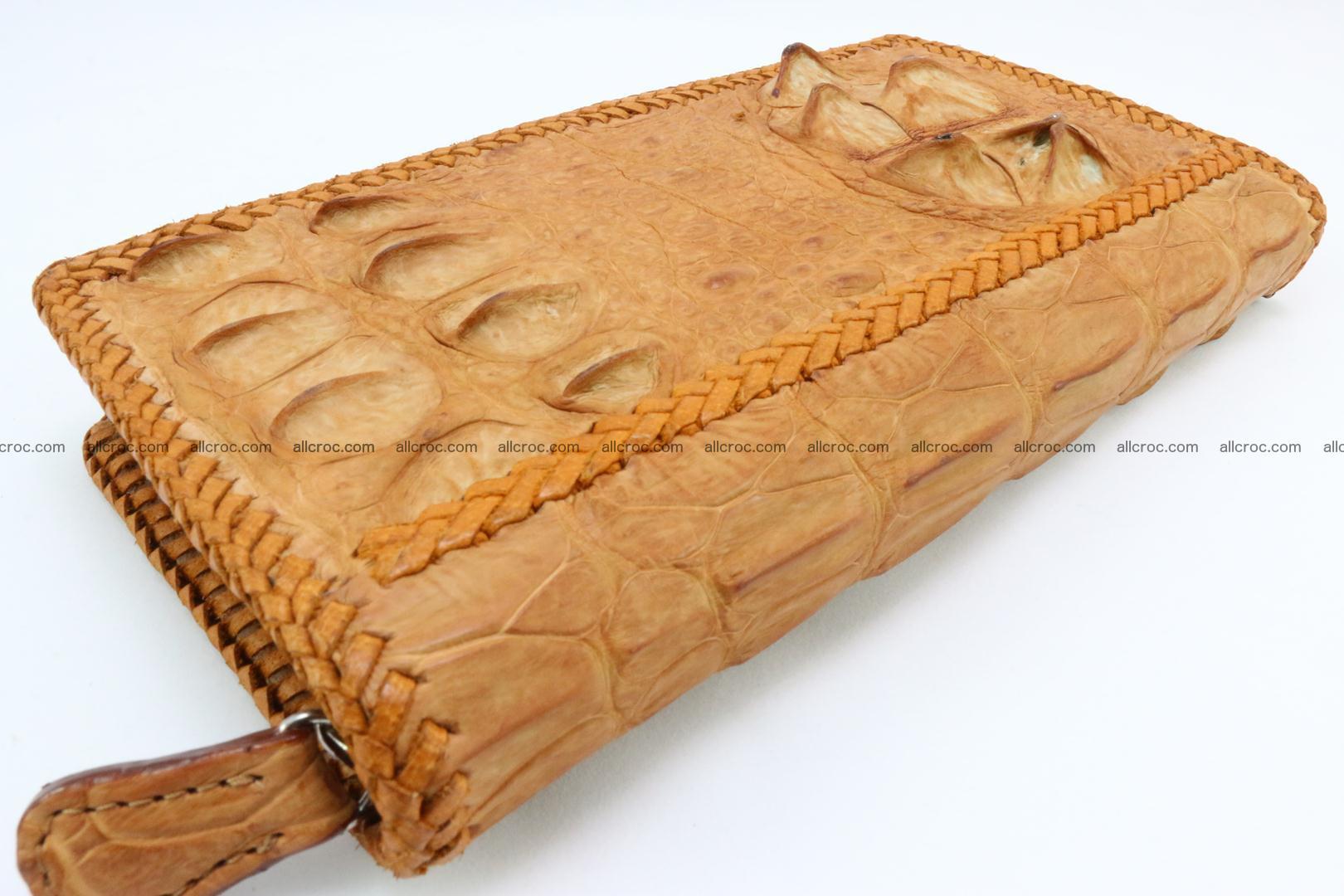 Genuine crocodile hornback wallet with zip 106 Foto 13