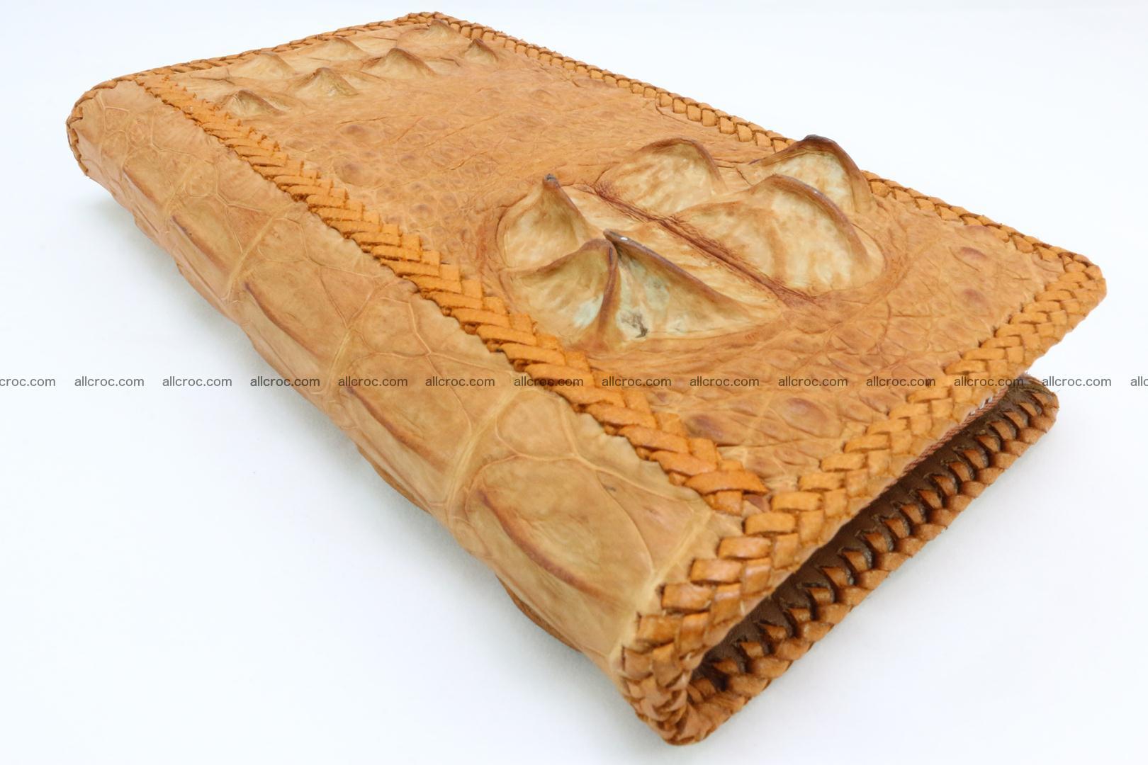 Genuine crocodile hornback wallet with zip 106 Foto 3