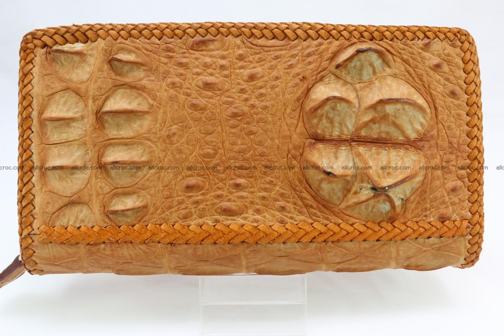 Genuine crocodile hornback wallet with zip 106 Foto 2