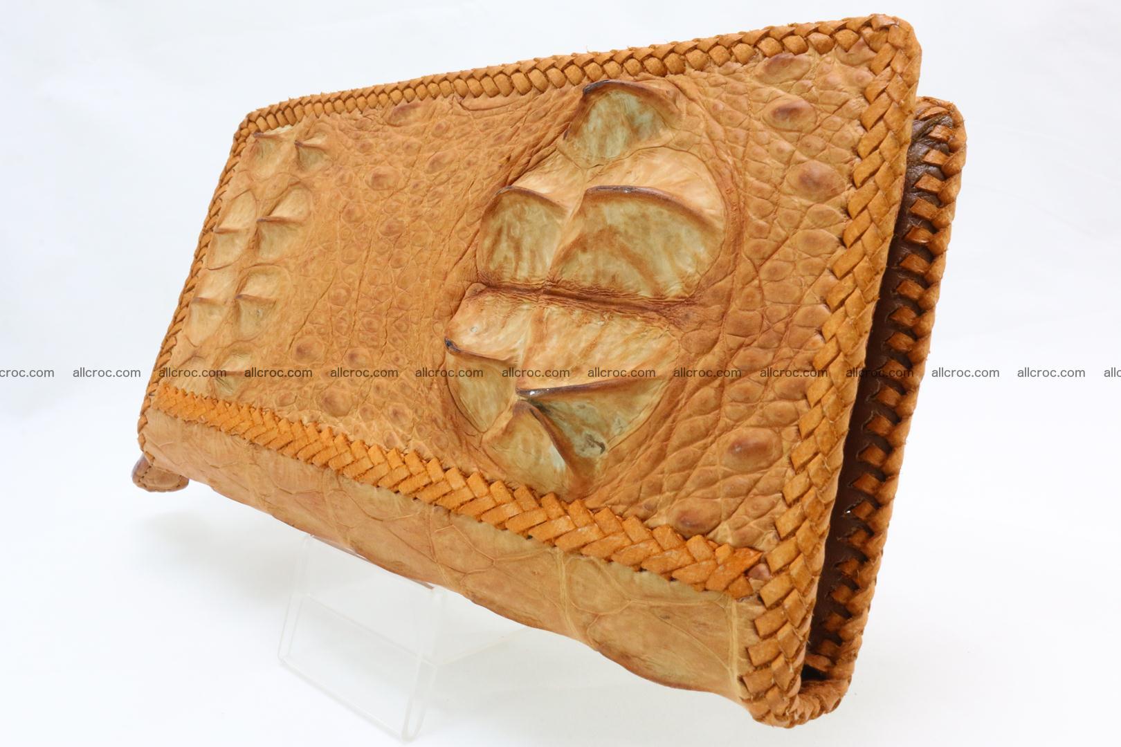 Genuine crocodile hornback wallet with zip 106 Foto 1