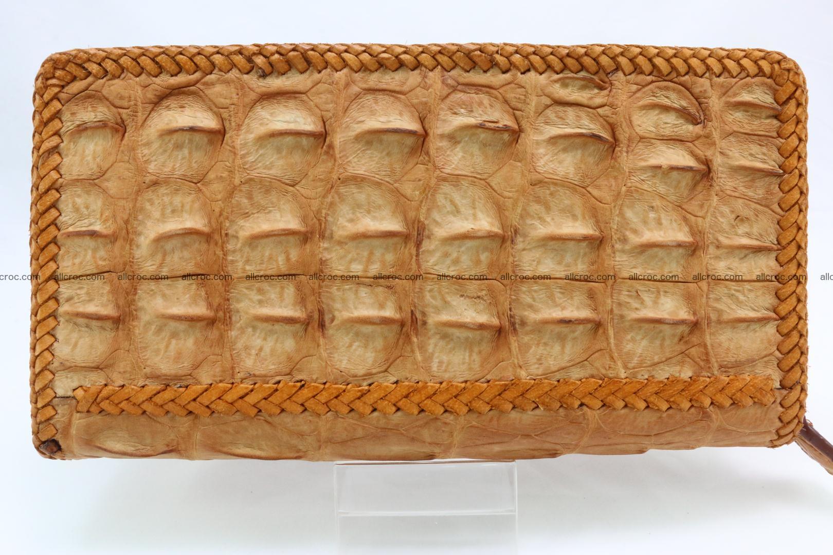 Genuine crocodile hornback wallet with zip 106 Foto 6
