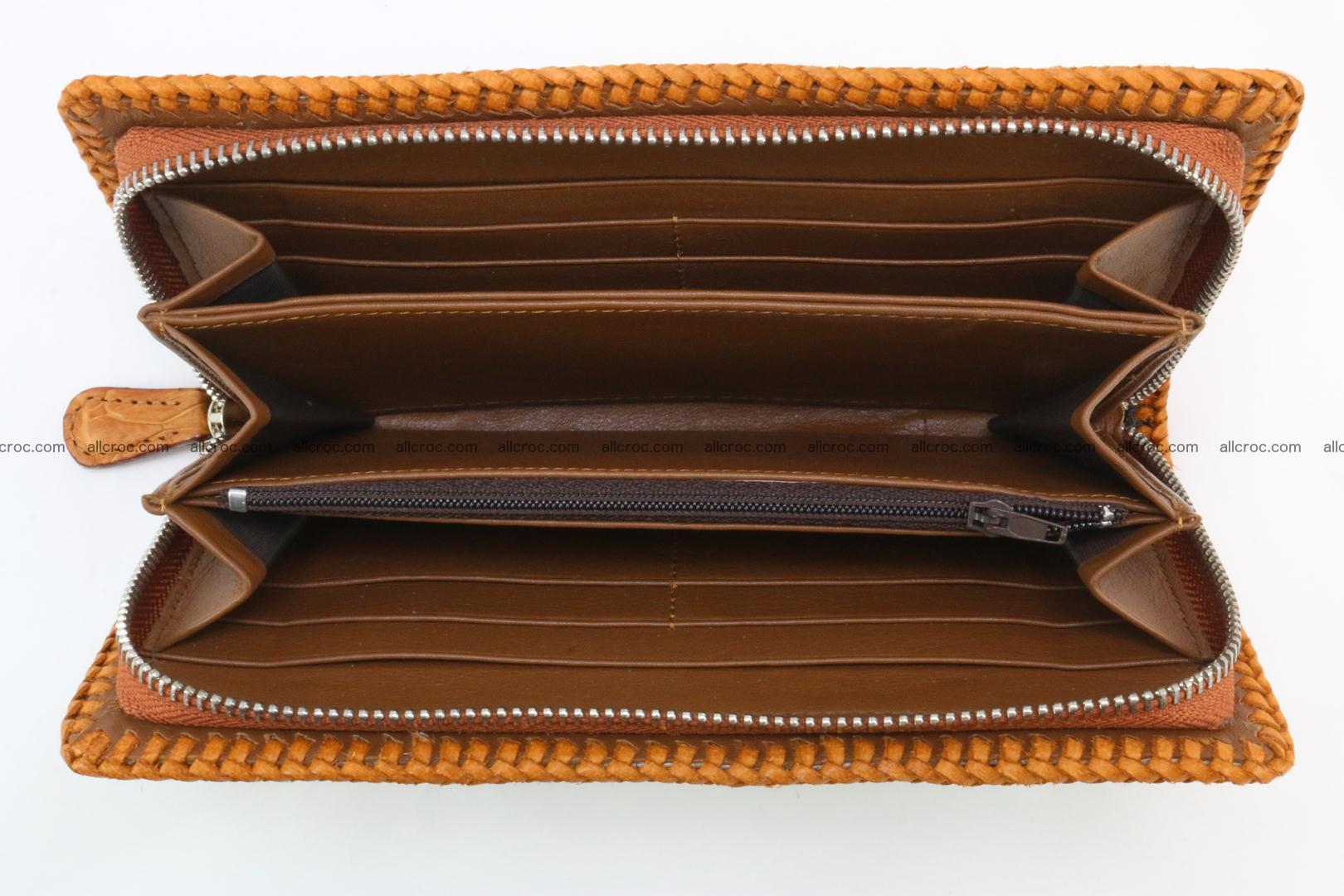 Genuine crocodile hornback wallet with zip 106 Foto 8