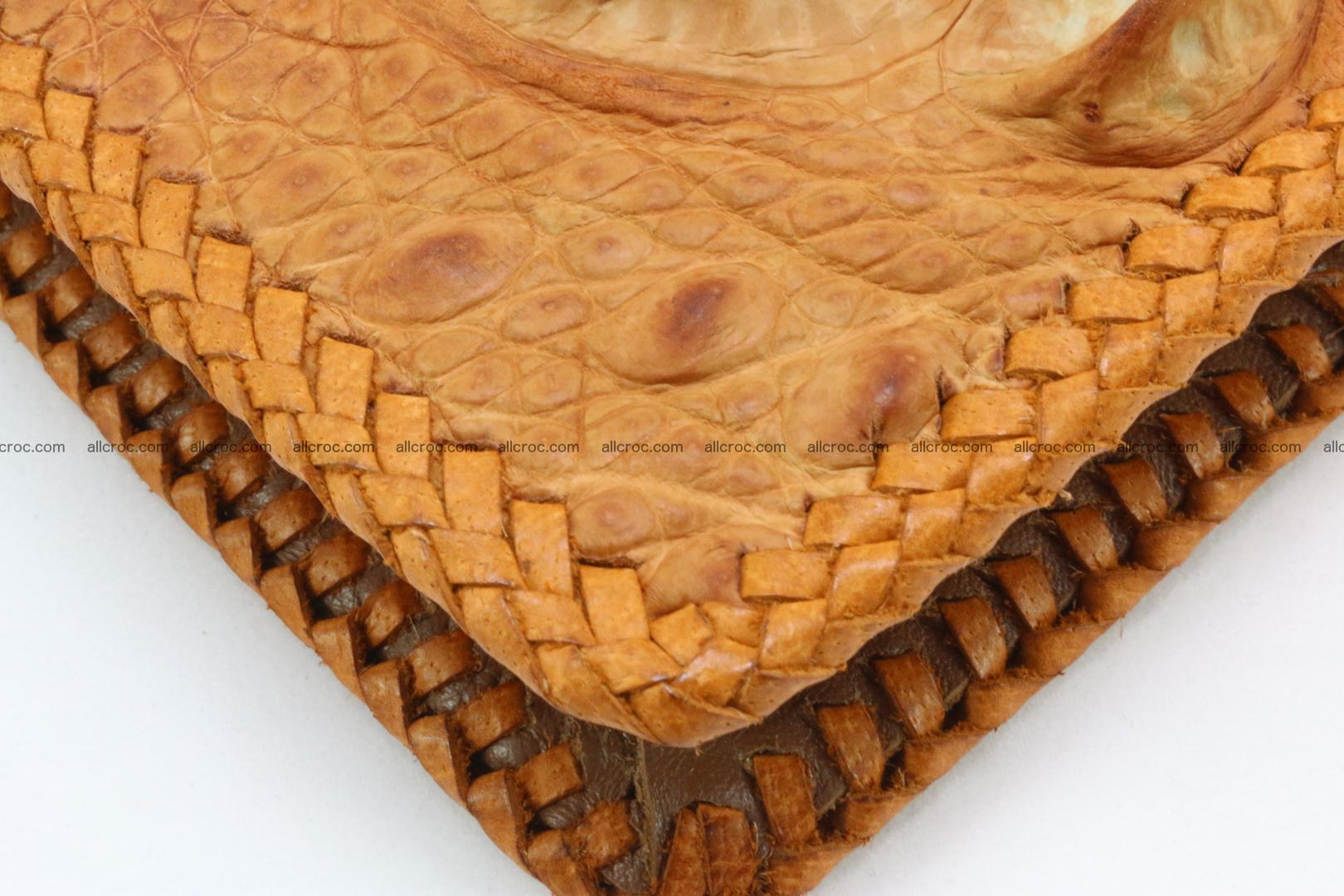 Genuine crocodile hornback wallet with zip 106 Foto 14