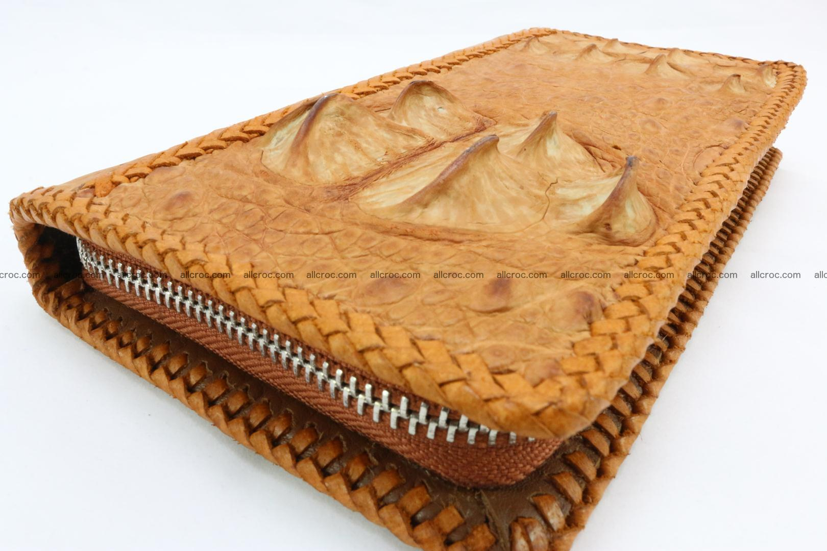 Genuine crocodile hornback wallet with zip 106 Foto 11