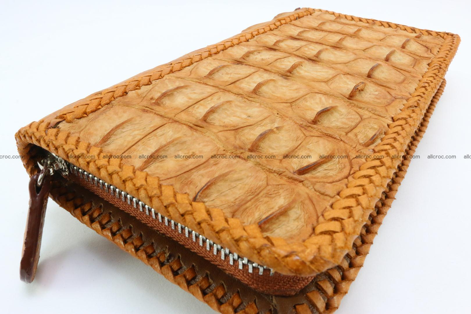 Genuine crocodile hornback wallet with zip 106 Foto 7