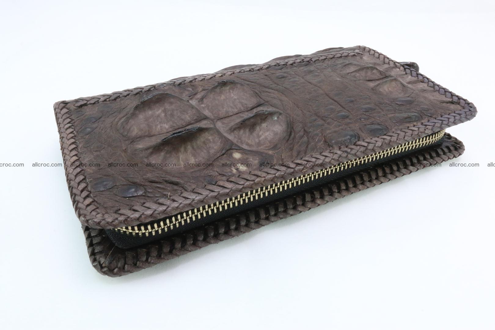 Genuine crocodile hornback wallet with zip 104 Foto 9