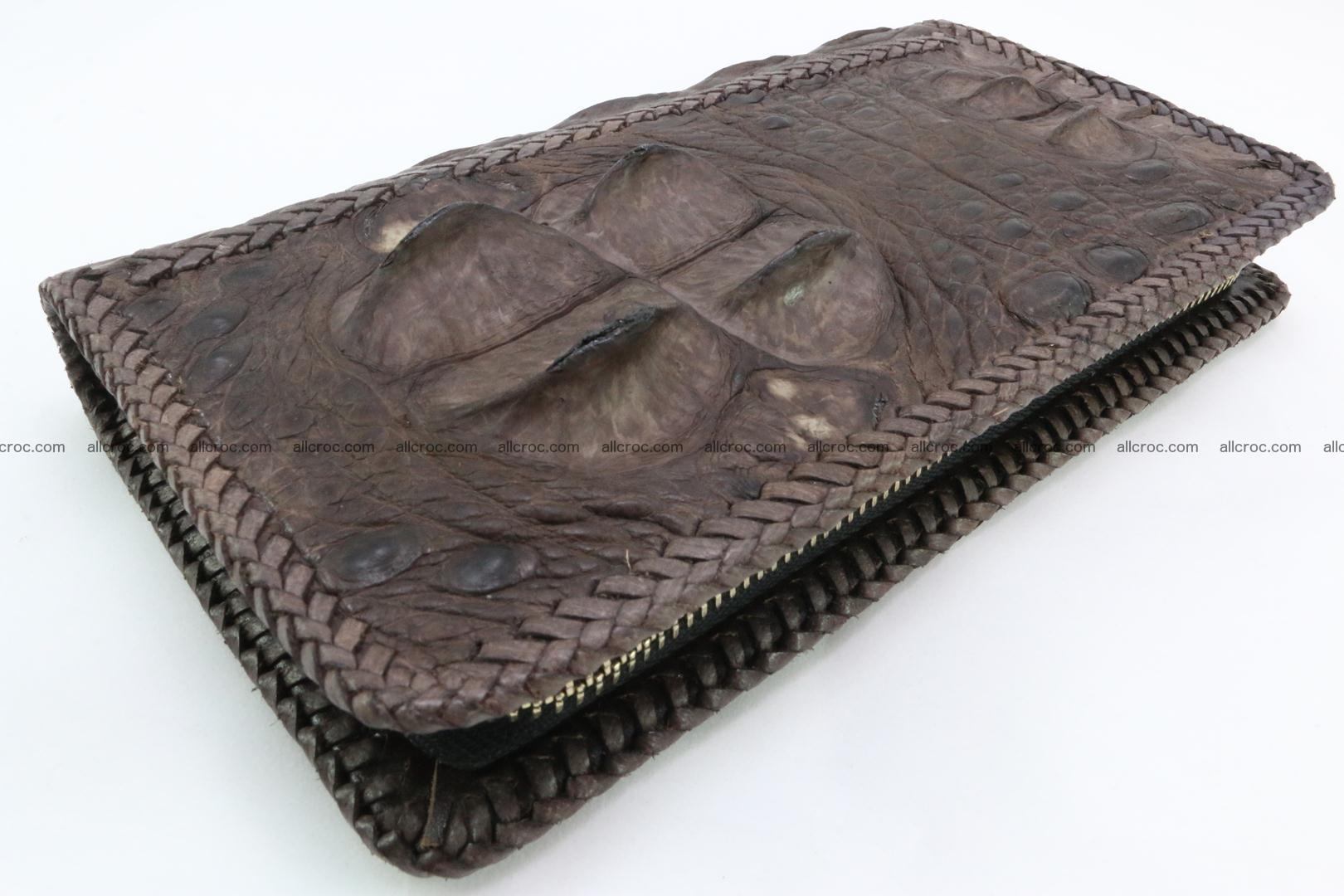 Genuine crocodile hornback wallet with zip 104 Foto 0