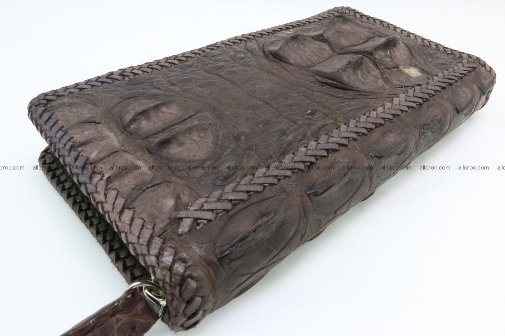 Genuine crocodile hornback wallet with zip 104 Foto 13
