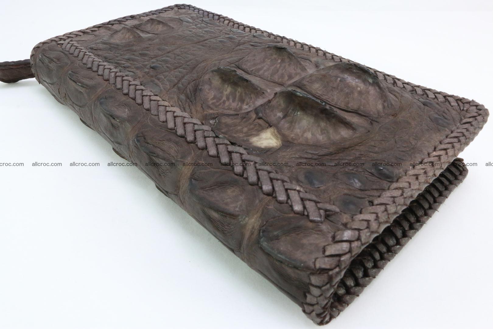 Genuine crocodile hornback wallet with zip 104 Foto 10
