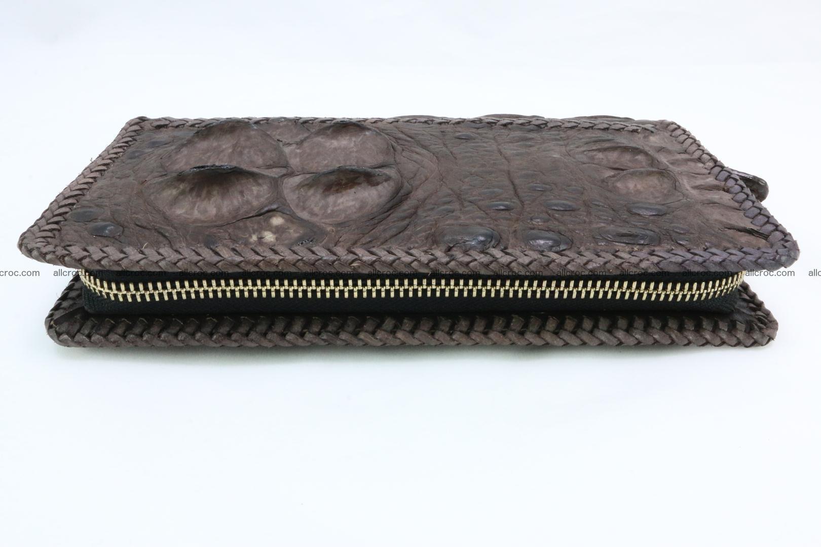 Genuine crocodile hornback wallet with zip 104 Foto 11