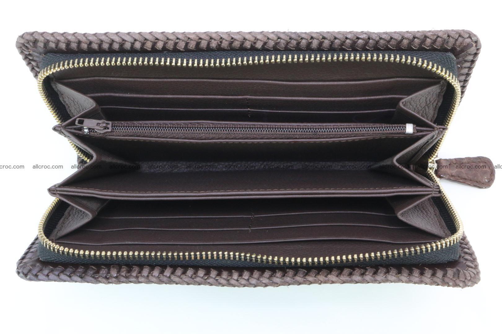 Genuine crocodile hornback wallet with zip 104 Foto 7