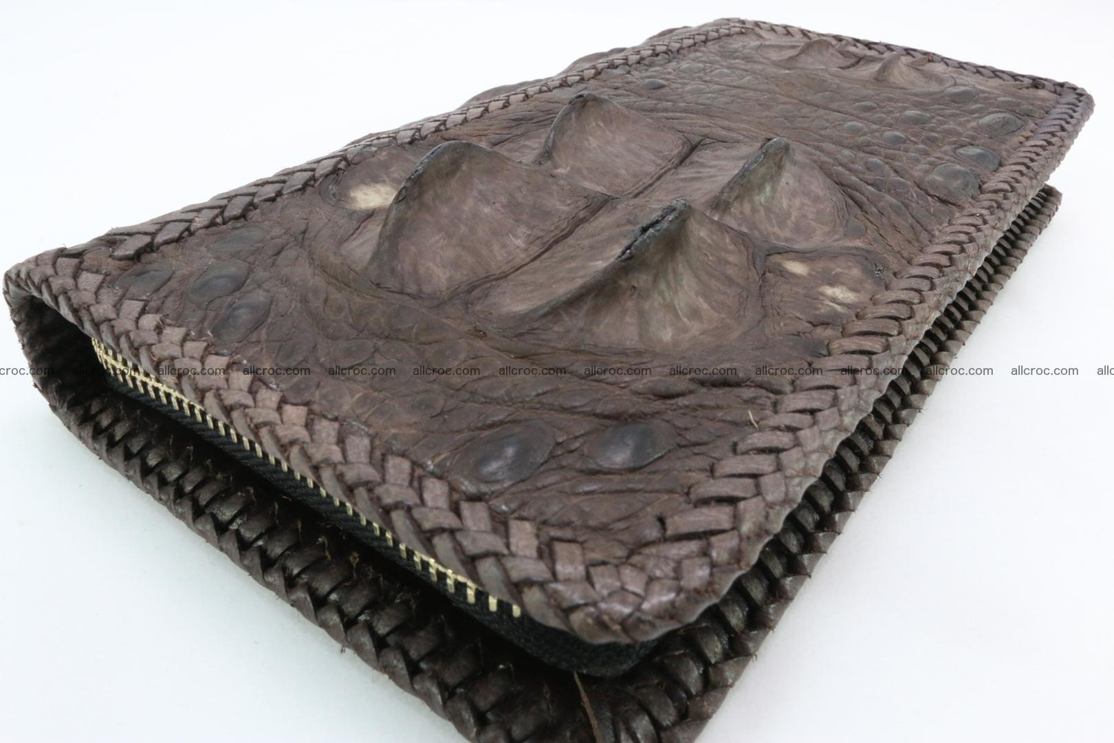 Genuine crocodile hornback wallet with zip 104 Foto 8