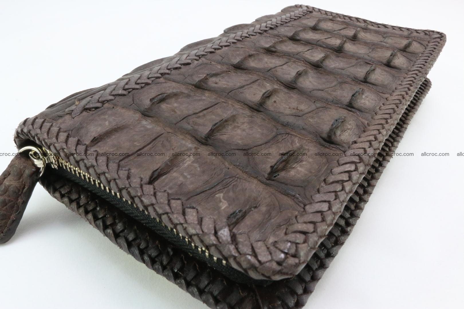 Genuine crocodile hornback wallet with zip 104 Foto 6