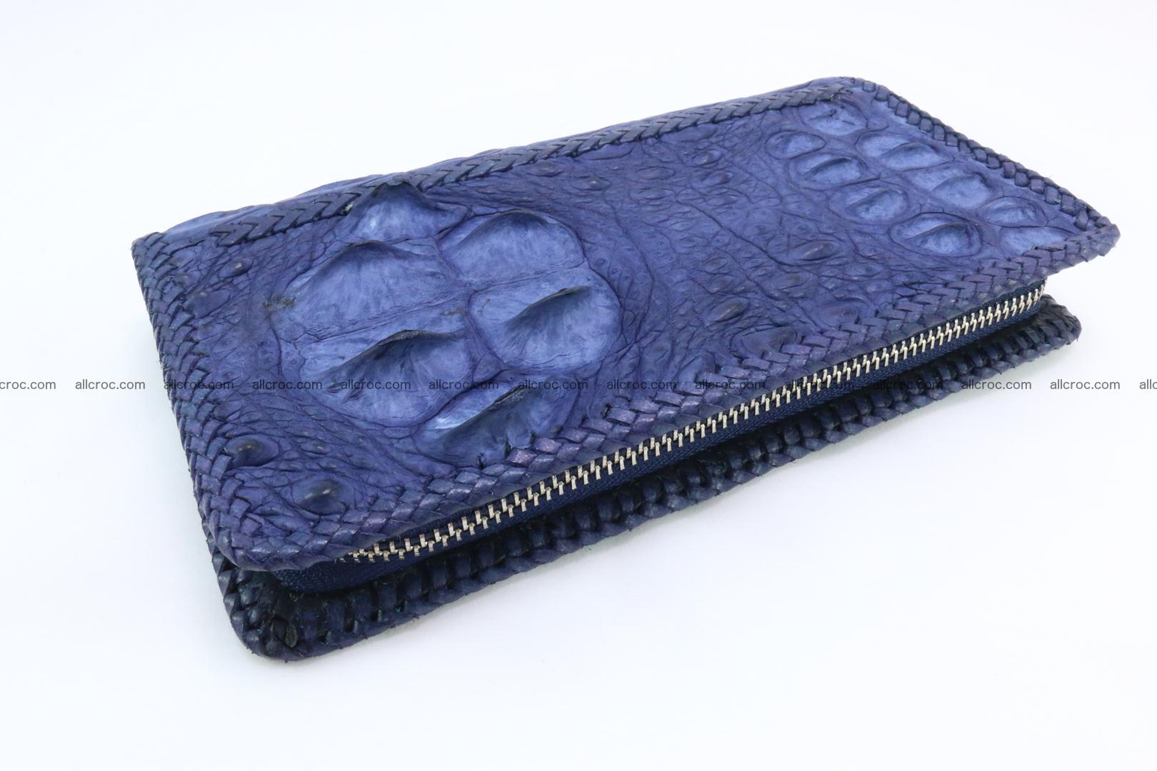 Genuine crocodile hornback wallet with zip 105 Foto 13