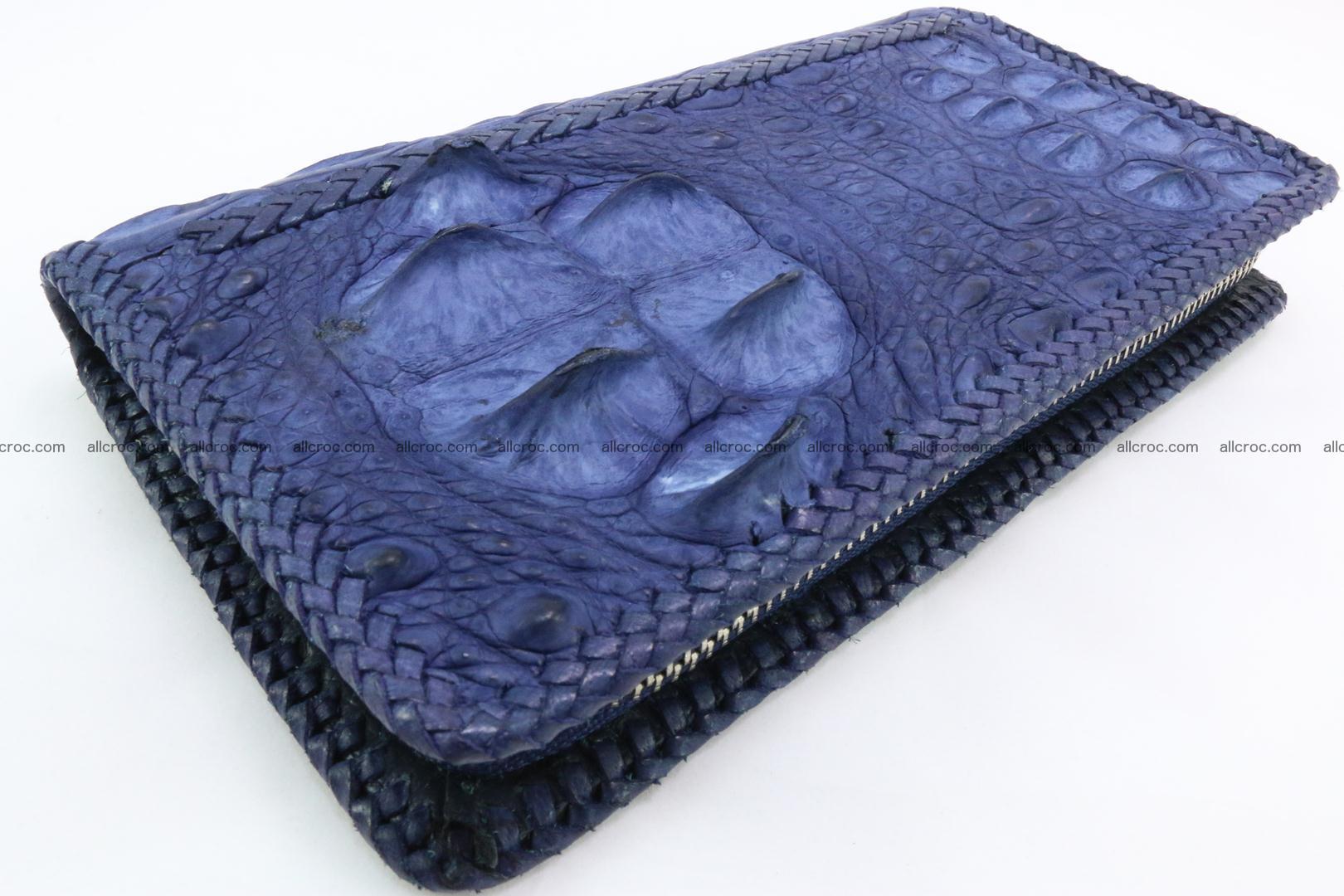 Genuine crocodile hornback wallet with zip 105 Foto 0