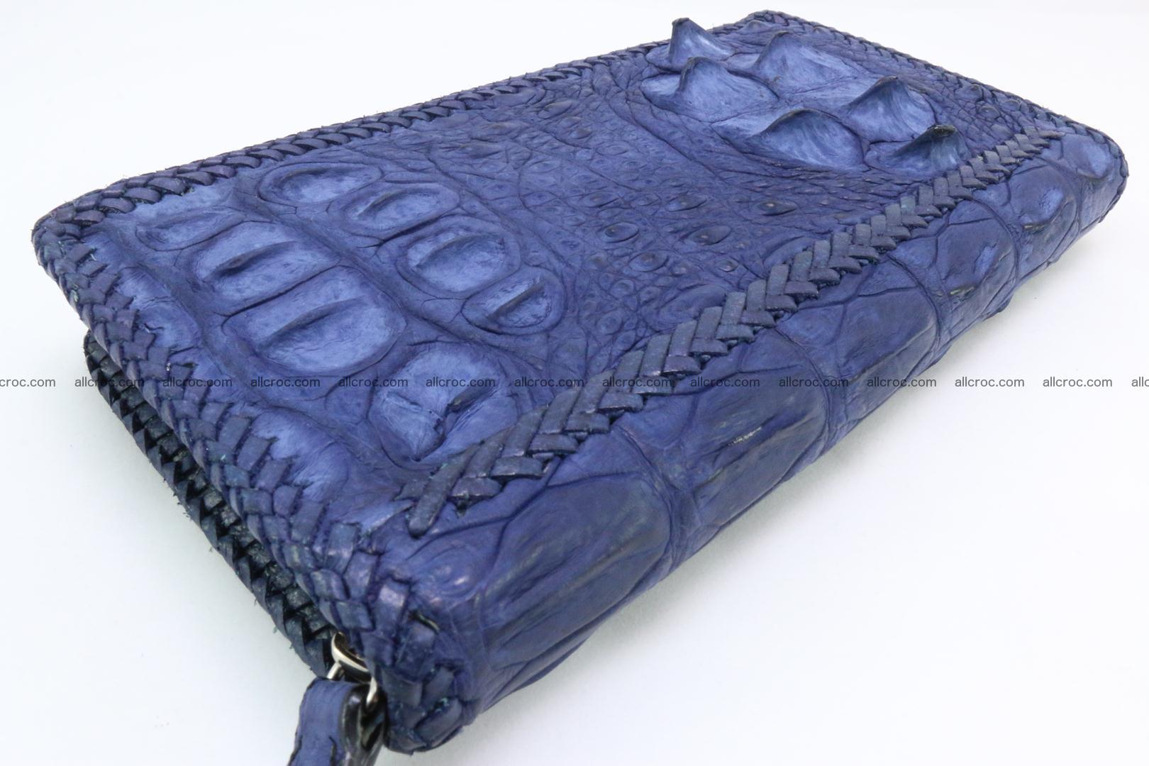 Genuine crocodile hornback wallet with zip 105 Foto 10