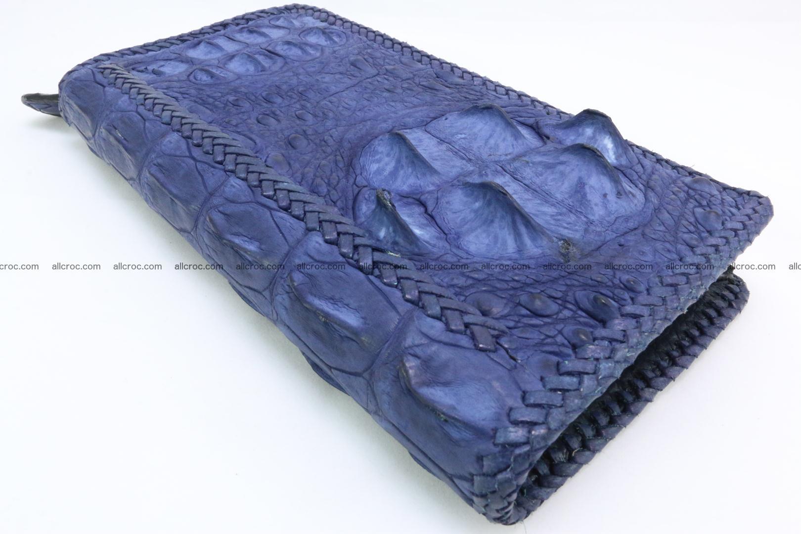 Genuine crocodile hornback wallet with zip 105 Foto 12