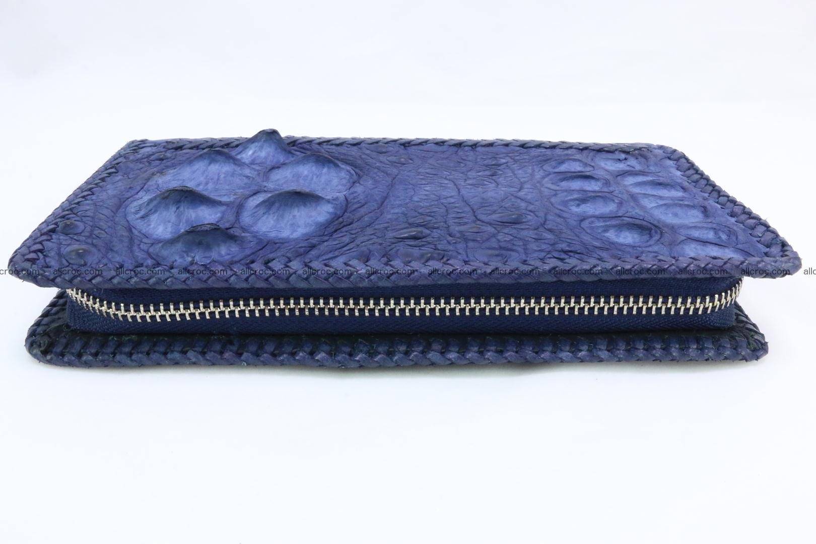 Genuine crocodile hornback wallet with zip 105 Foto 11