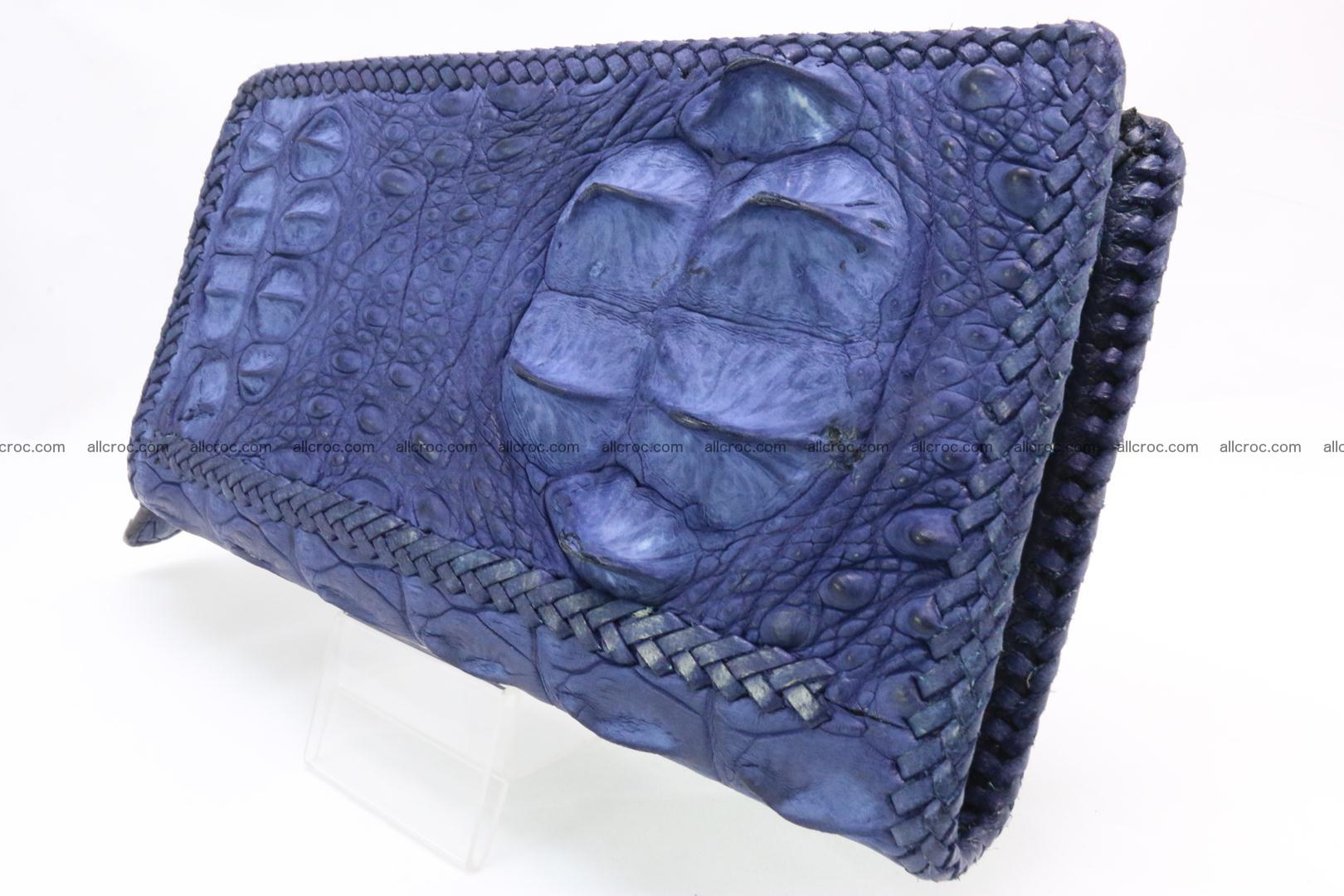 Genuine crocodile hornback wallet with zip 105 Foto 1