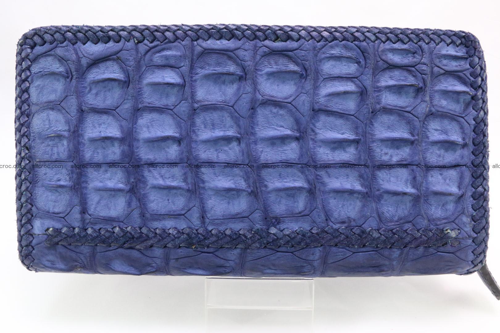 Genuine crocodile hornback wallet with zip 105 Foto 6