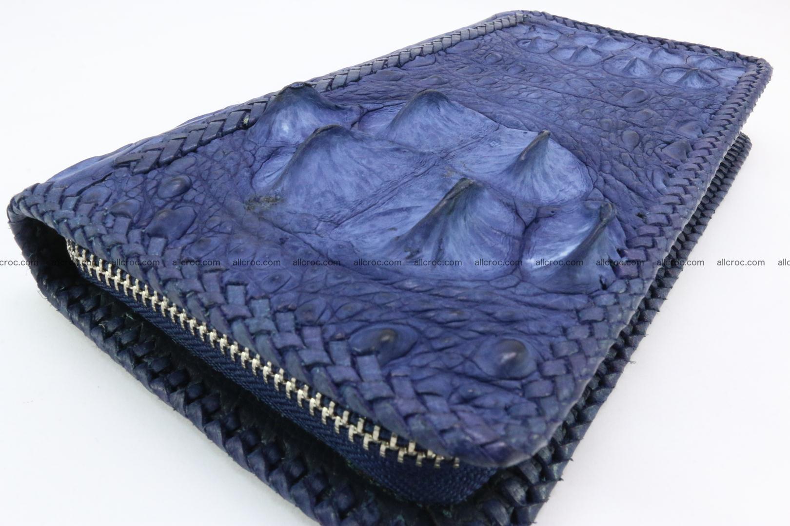 Genuine crocodile hornback wallet with zip 105 Foto 3