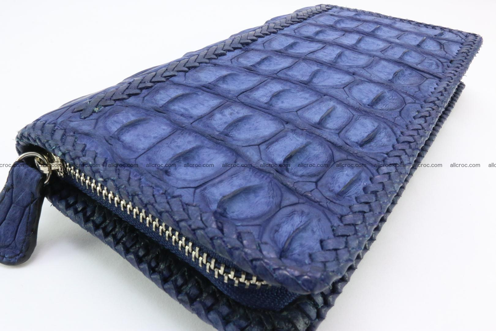 Genuine crocodile hornback wallet with zip 105 Foto 7