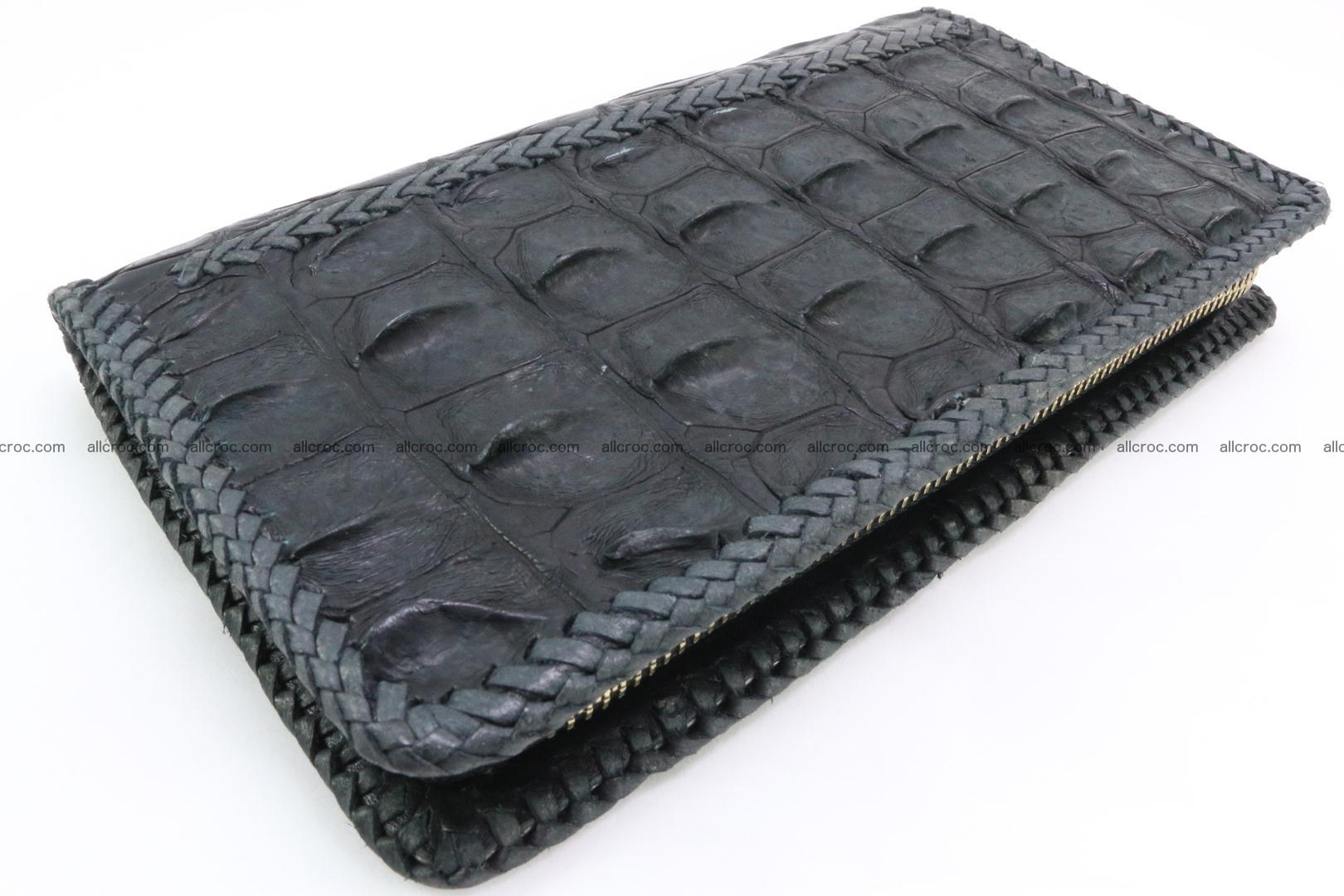 Genuine crocodile hornback wallet with zip 099 Foto 0