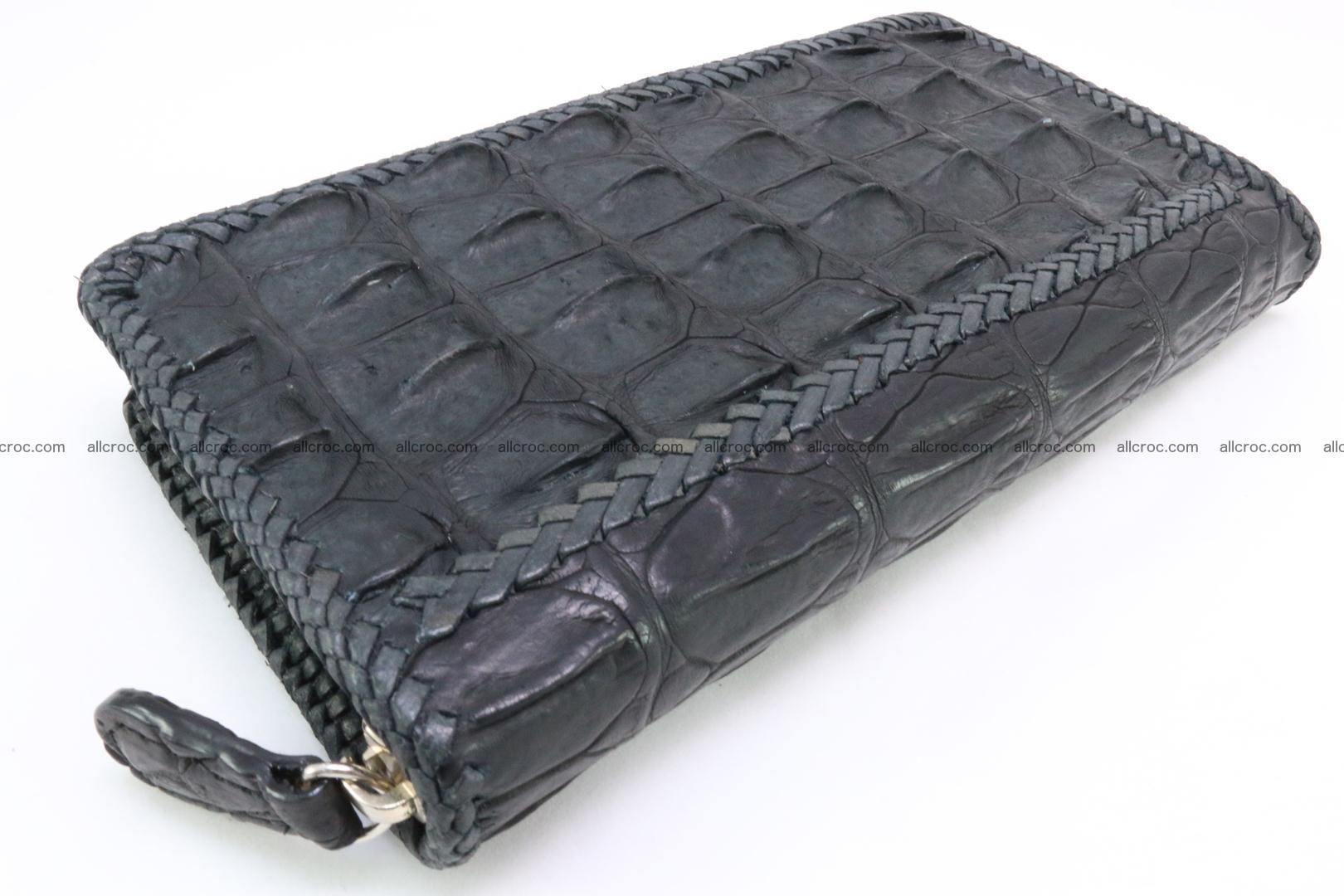 Genuine crocodile hornback wallet with zip 099 Foto 3